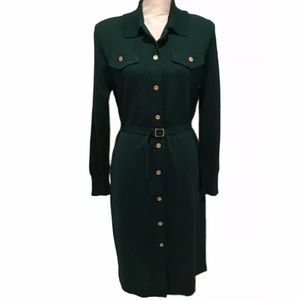 Dresses & Skirts - VINTAGE CASTLEBERRY KNIT green SWEATER DRESS MED